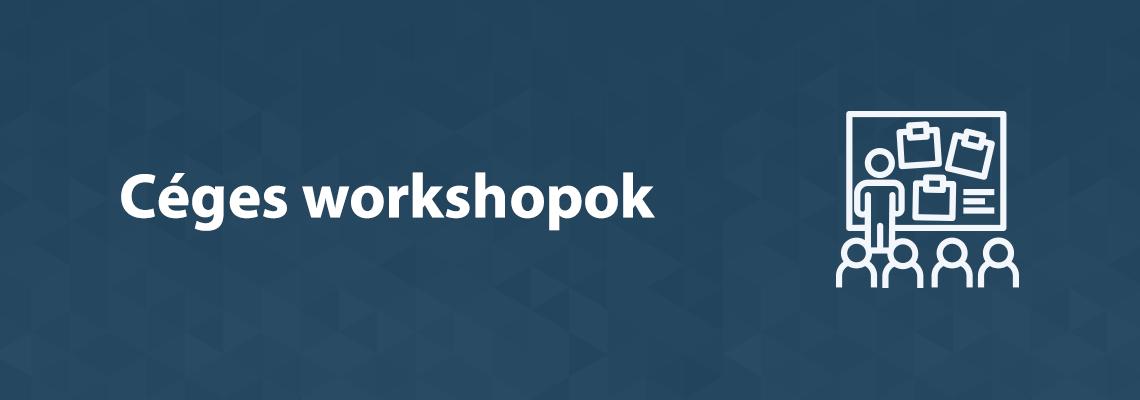 céges workshopok
